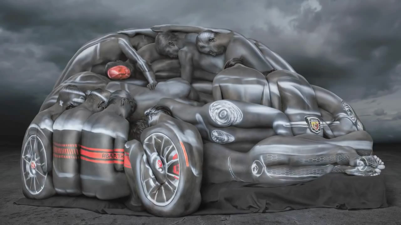 Fiat Body-Paints a Bunch of Naked Women Into the Shape of a Car