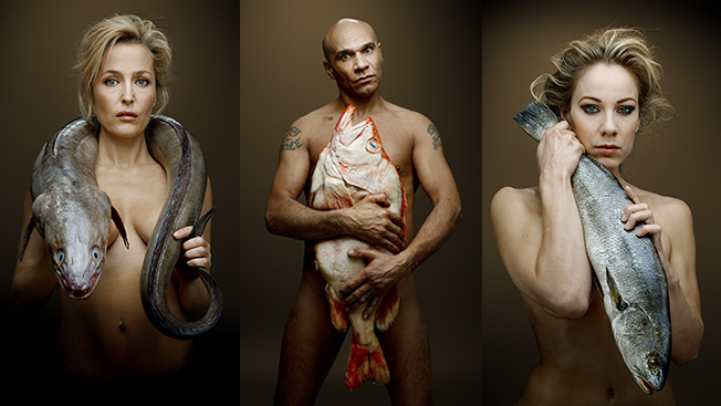 Celebrities Strip Down and Snuggle Seafood to Support Sustainable Harvests