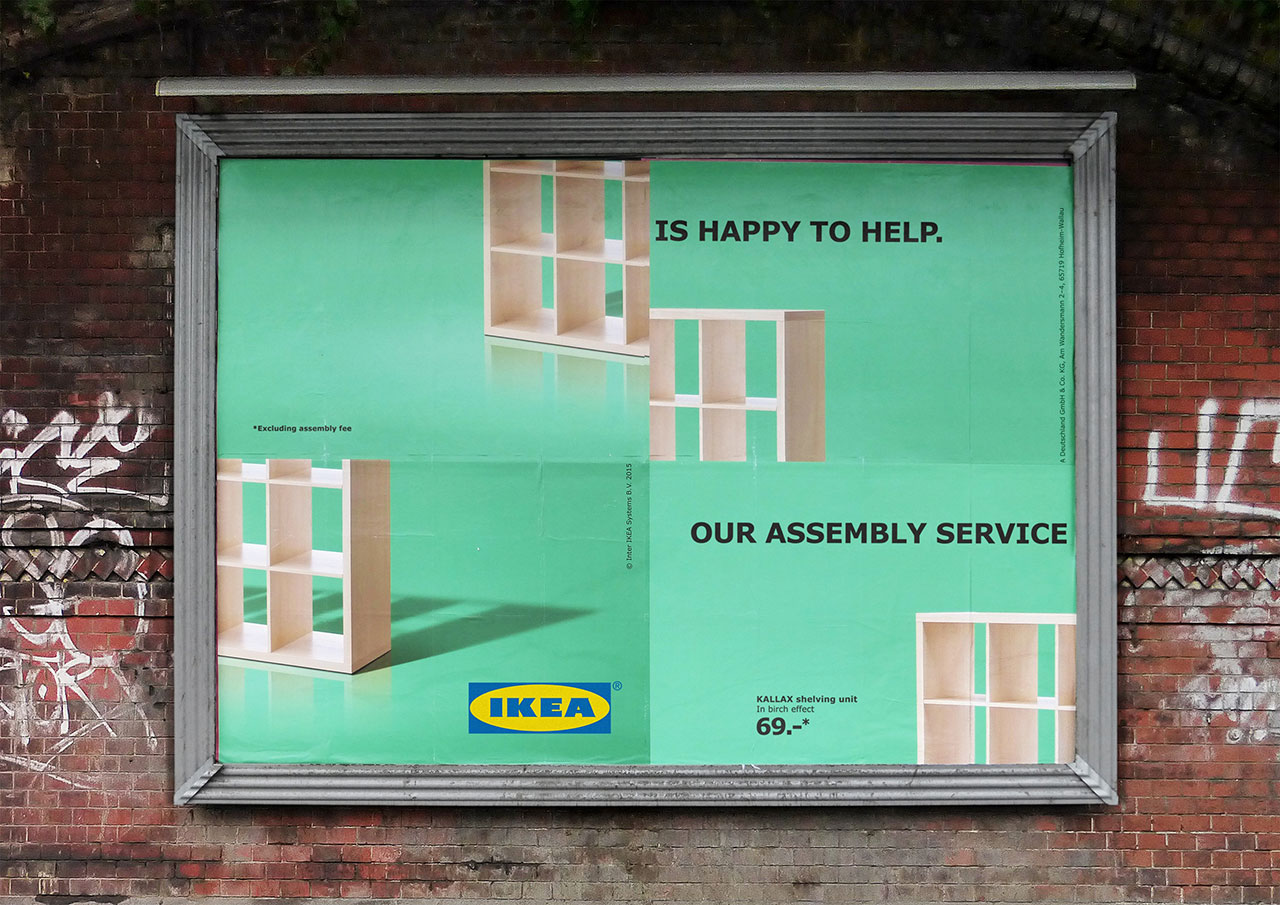 Ikea Uses Poorly Assembled Billboards To Admit Its Furniture Is Hard To Put  Together