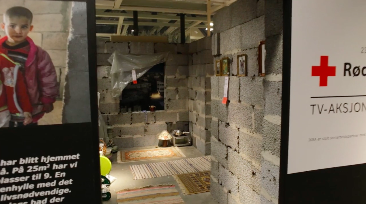 Ikea Built a Room in One of Its Stores to Look Like a Damaged Home in Syria