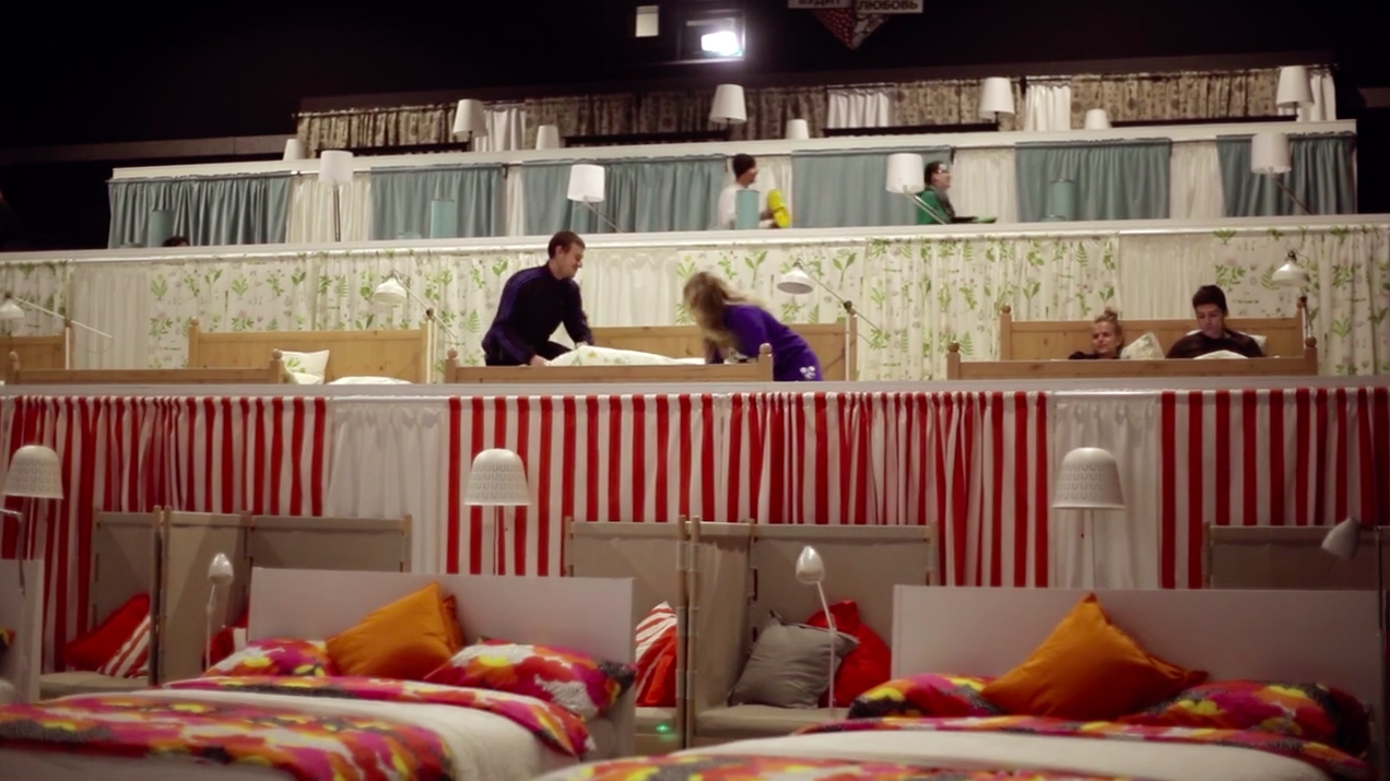 ikea gave this theater a cozy makeover so people could