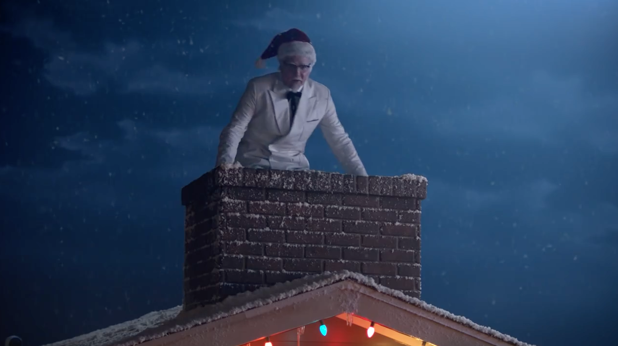 Colonel Sanders Channels Santa, Badly, in W+K\'s Silly Holiday Spots ...