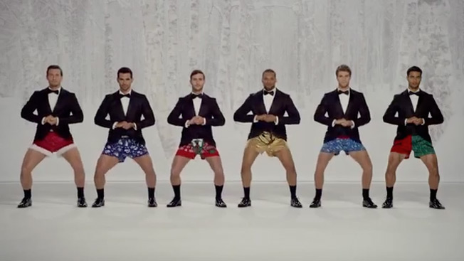 Kmart Hunks Play 'Jingle Bells' With Their Junk in Christmas Ad