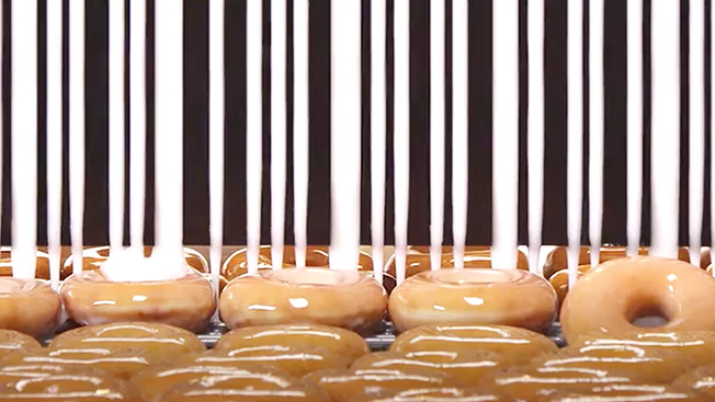 Krispy Kreme Rigs A Glazing Machine To Create A Scannable
