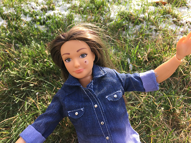 Meet the Doll That's Proportioned Like a Real Woman, and Comes With 'Imperfection' Stickers