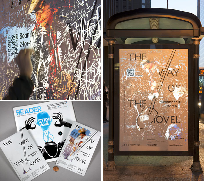 You'll Dig These Scratch-Off Bus Shelter Ads for 'Art as Archaeology' Museum Show
