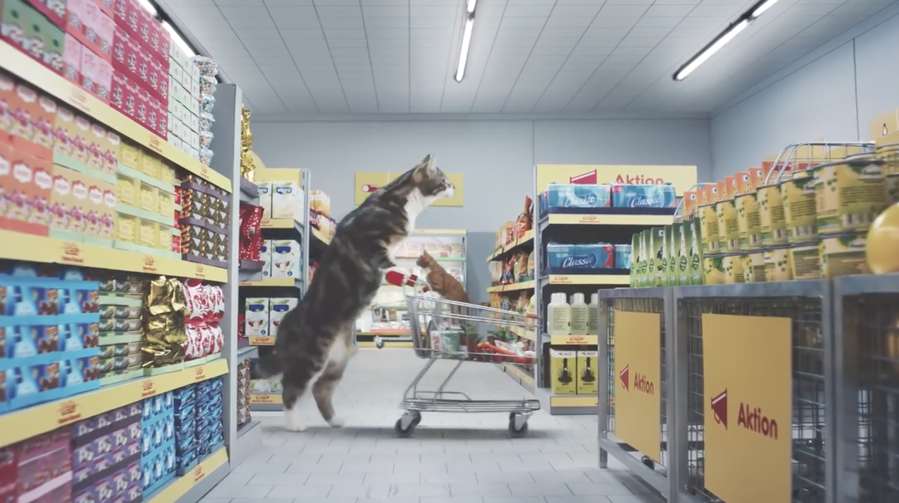 This Crazy Supermarket Ad, Full of Cats, Will Give You a Big Cheshire Grin