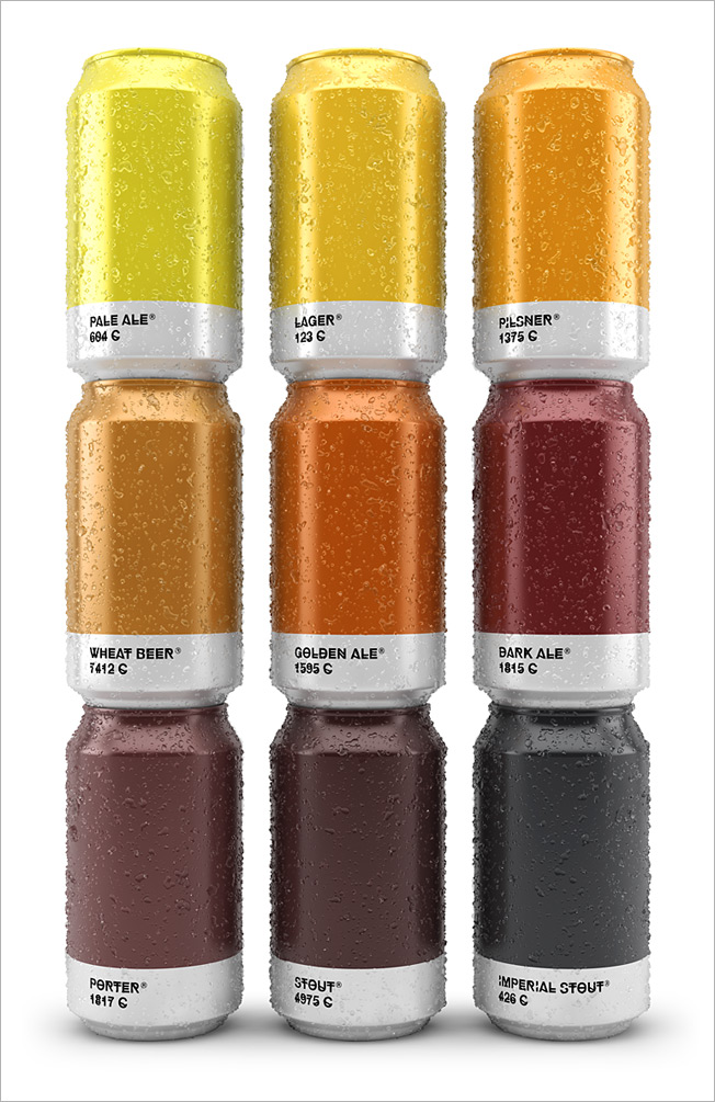 Awesome Beer Cans Show The Pantone Color Of The Brew Thats Inside