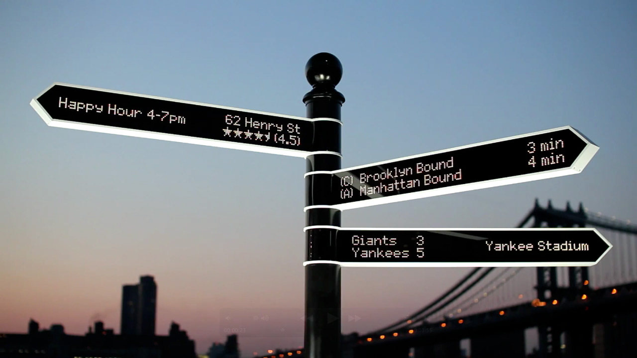 World's Smartest Street Sign Can Point You to Almost Anything