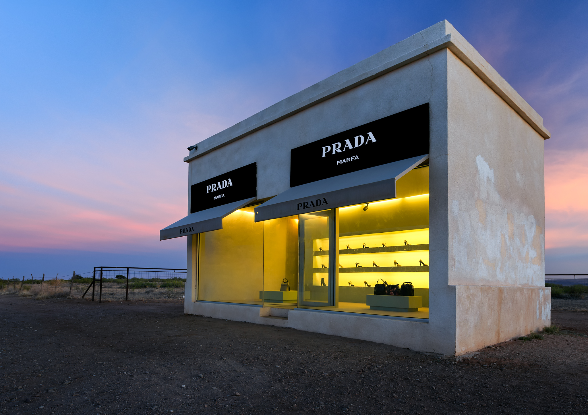 Strange Prada Storefront In The Middle Of Nowhere Can