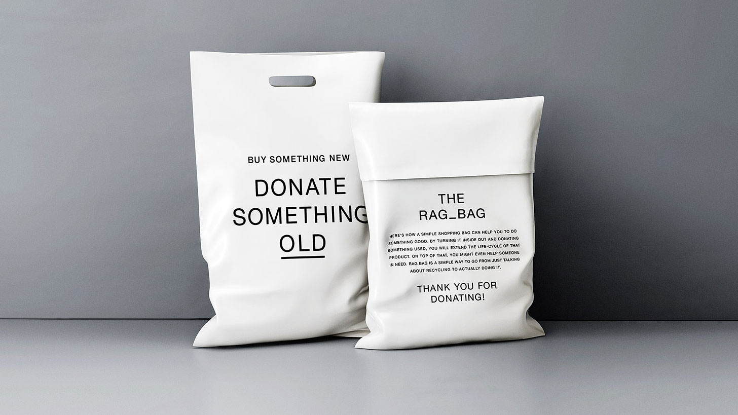 Clothing Retailer S Shopping Bags Turn Inside Out To