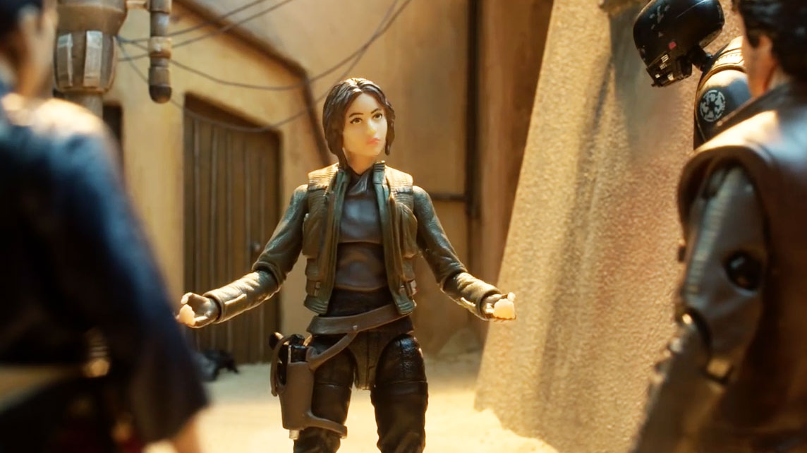 here s the story behind the delightful stop motion films for star wars rogue one s toys adweek. Black Bedroom Furniture Sets. Home Design Ideas
