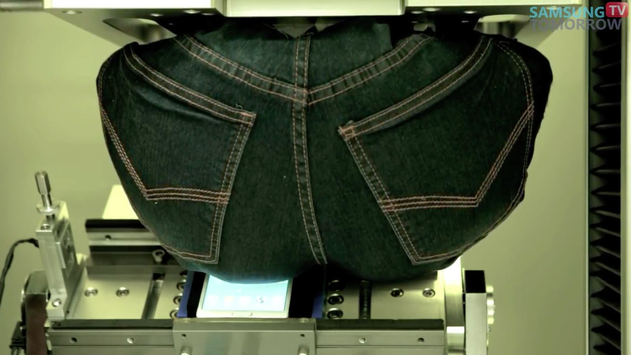 Samsung Has a Robotic Butt Sit on the Galaxy Note 4 in Comical #Bendgate Video