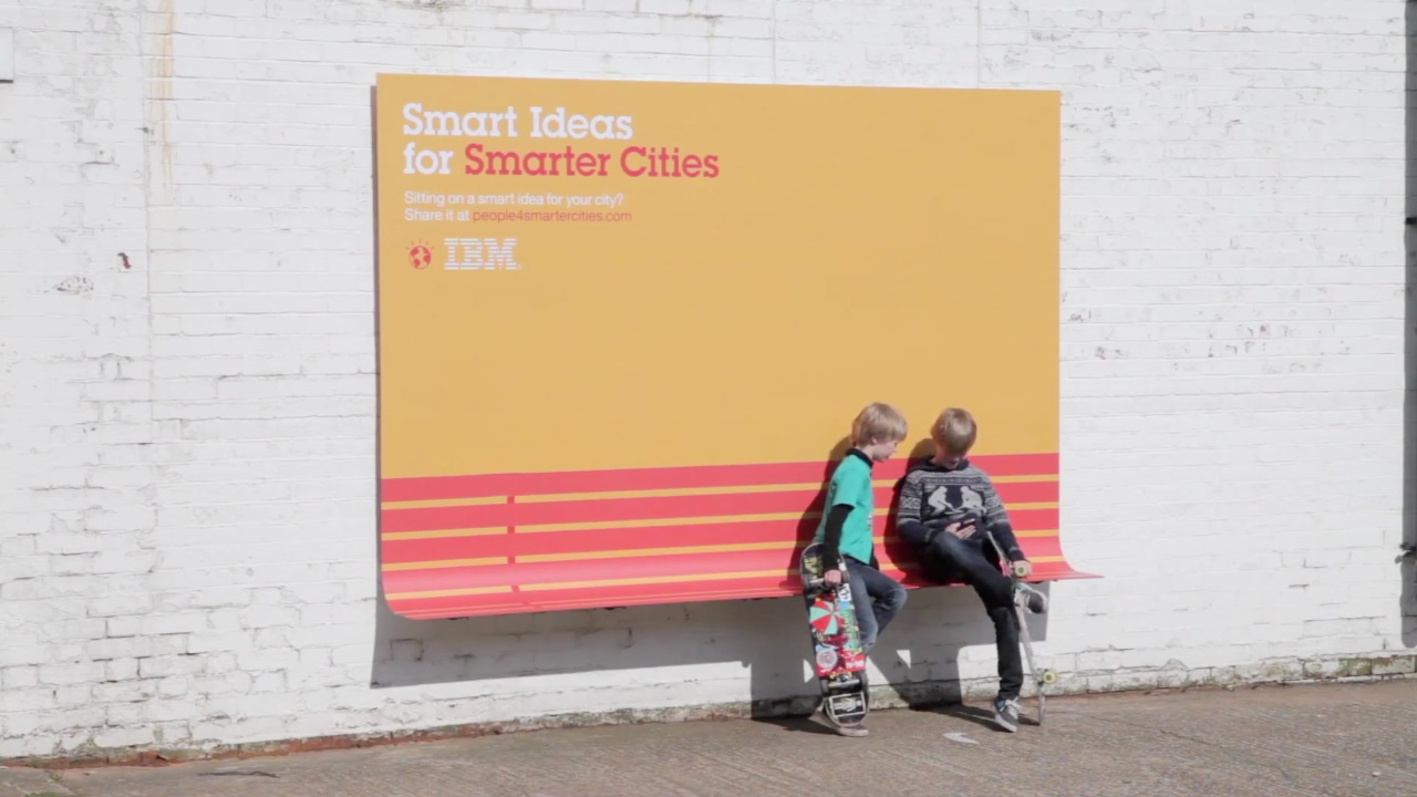 IBM's Outdoor Ads Actually Try to Be Useful and Make Cities Better
