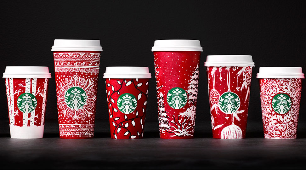 Starbucks Christmas Cups 2019.Starbucks Red Christmas Cups For 2016 Probably Won T Offend