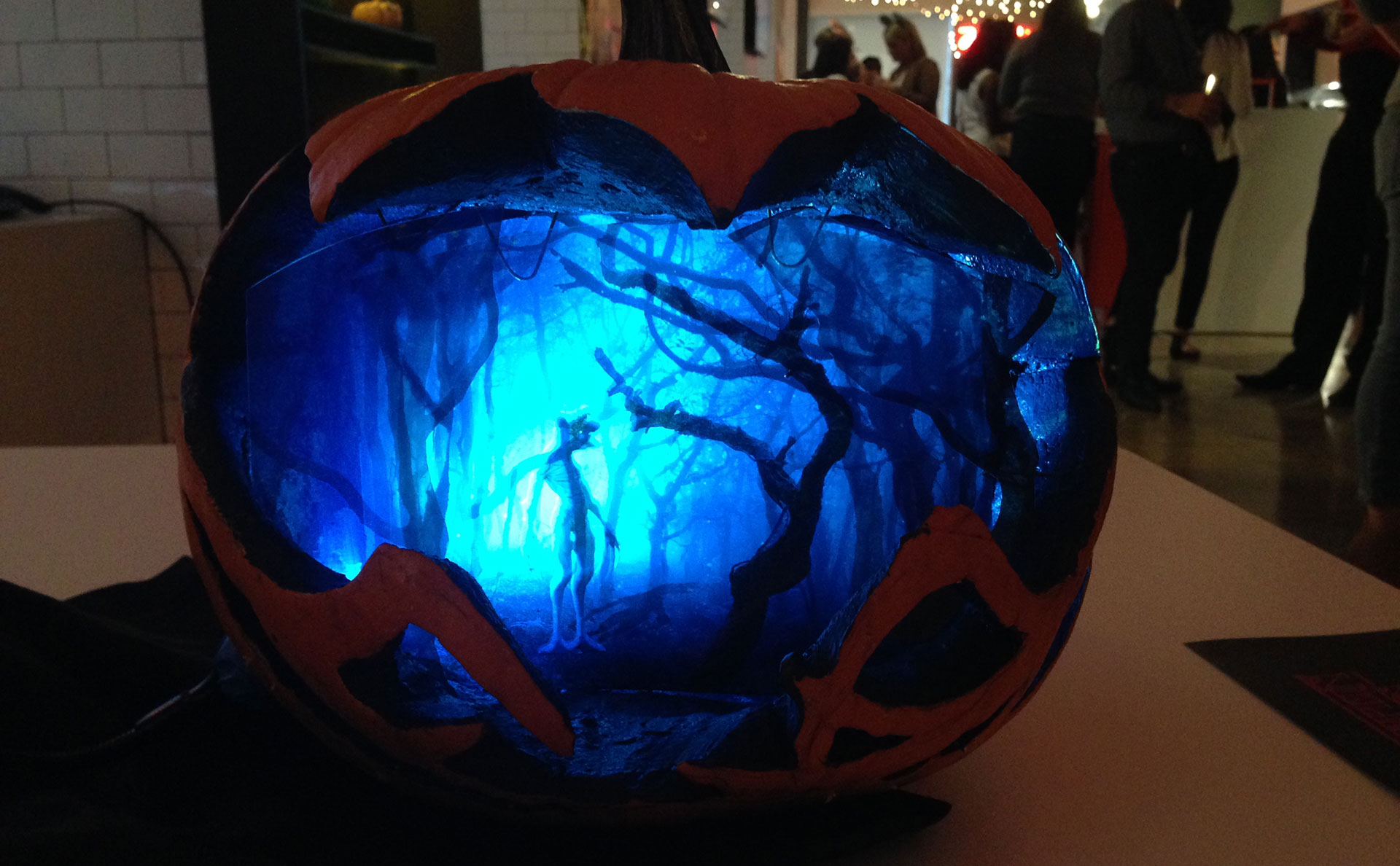 An Art Director Carved The Coolest Stranger Things Pumpkin Youll