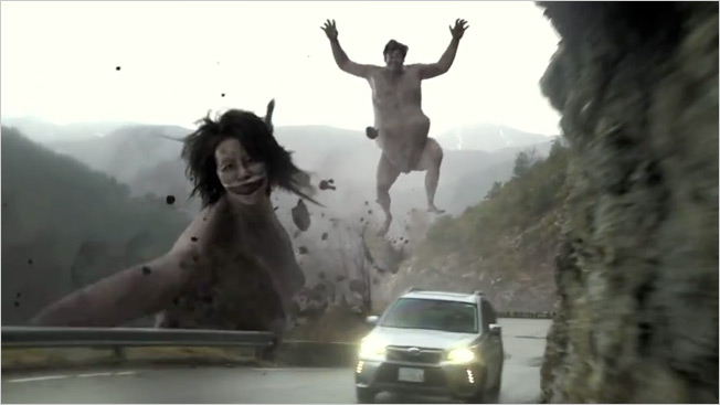 Weird, Giant Monsters Chase a Forester in Subaru Ad That's Totally Bonkers