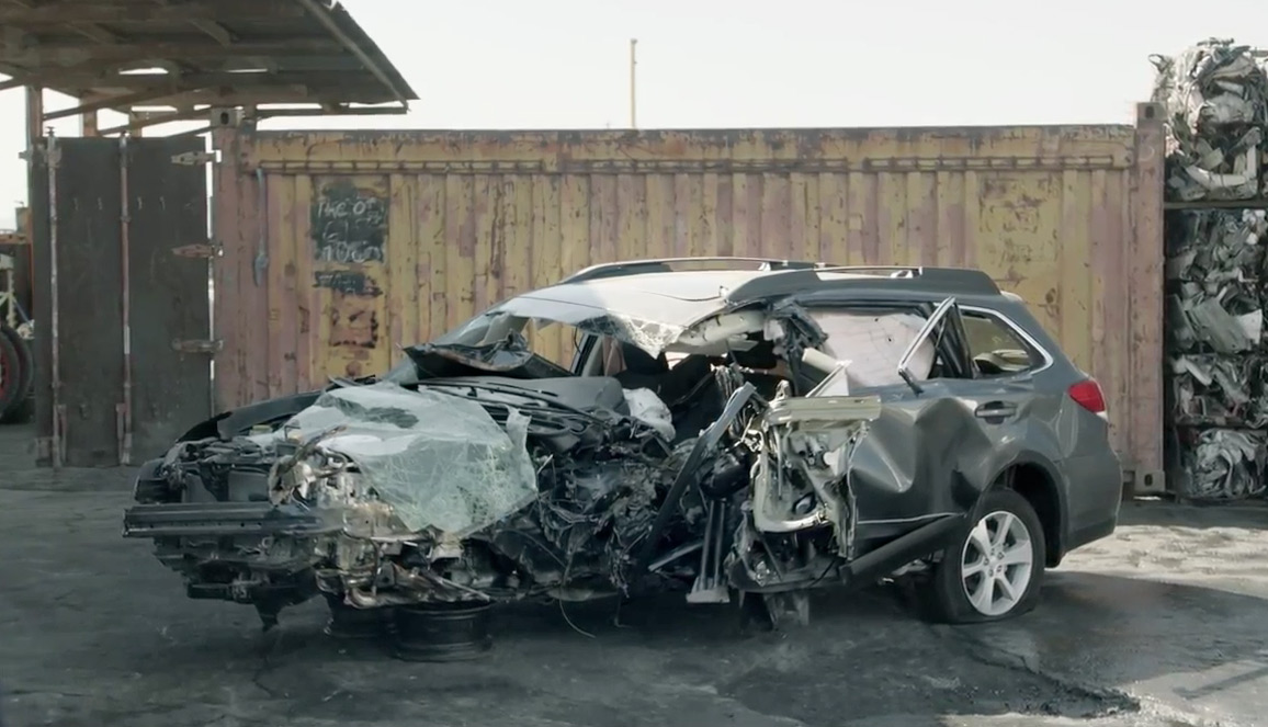 Intense Subaru Ad Focuses Almost Entirely on One of Its Vehicles Horribly Wrecked in a Crash