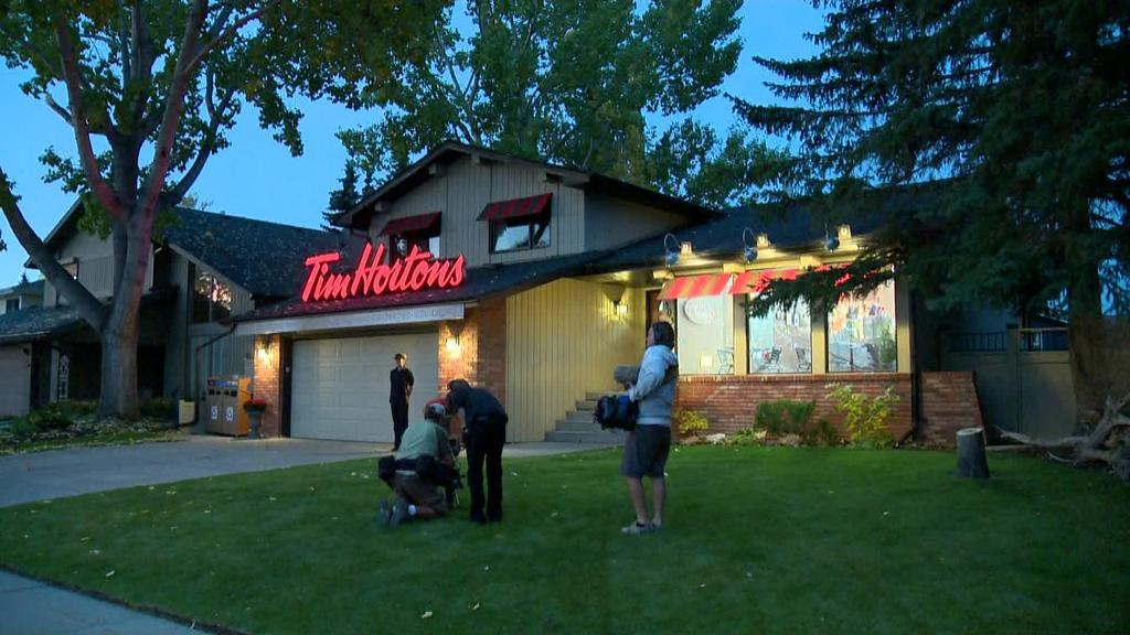 Tim Hortons Surprised This Calgary Street by Taking Over a Residential Home Overnight