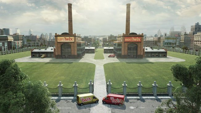 twix unveils rivalry campaign pitting left bar against right bar
