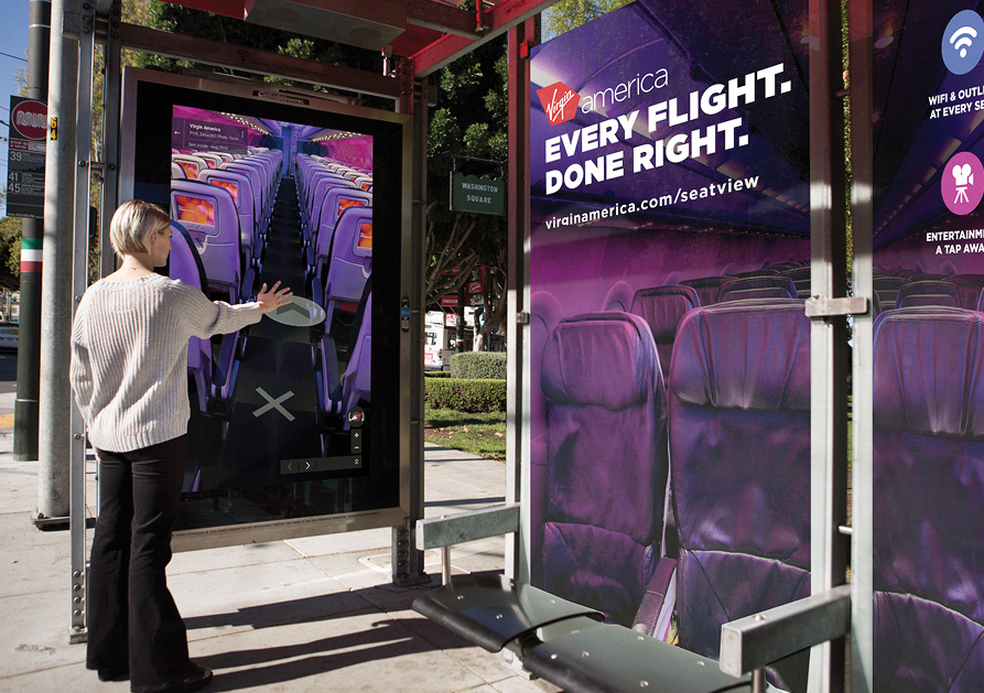 Virgin America\'s Bus-Shelter Ads Use Google Street View to Take You ...