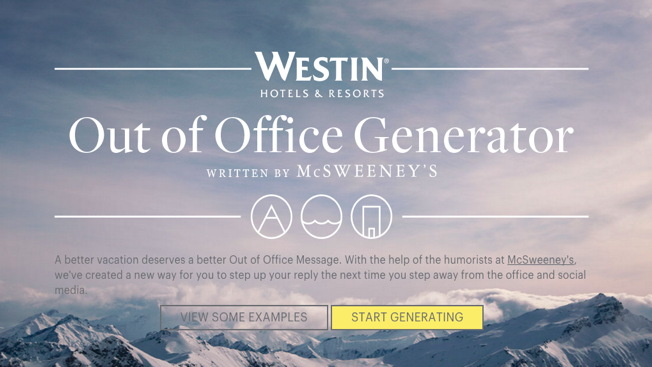 Westin Hotels Hires McSweeney's to Write You a Better Out-of