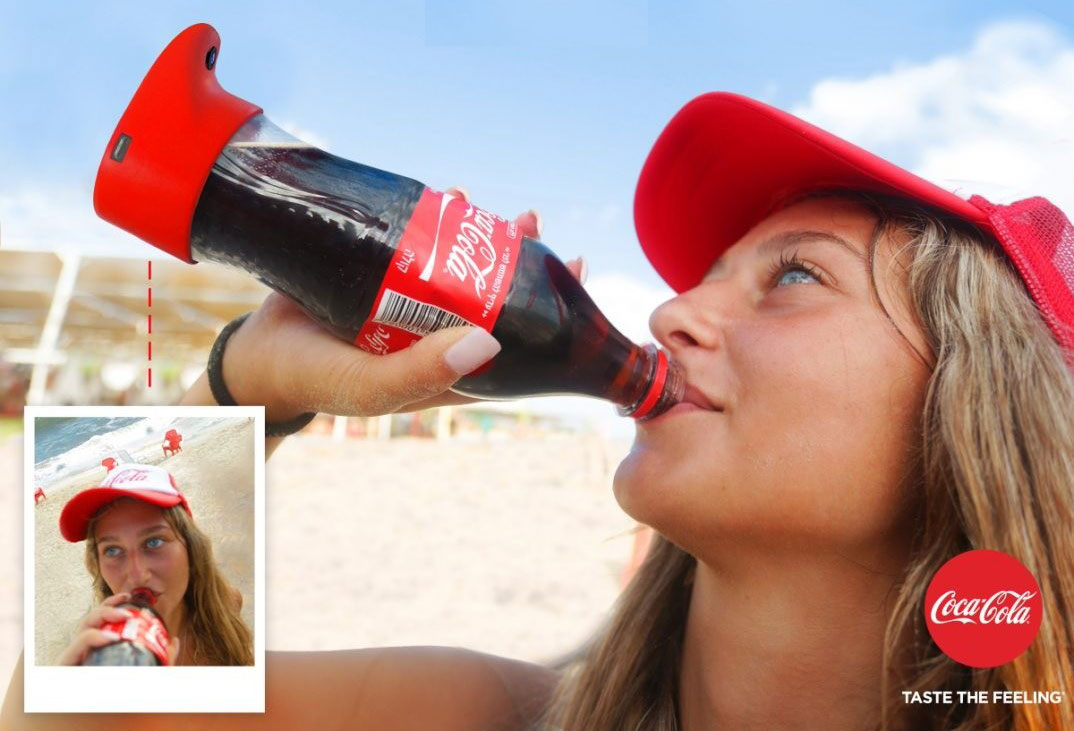 Coca-Cola Invented a Bottle That Takes Selfies, Because We Really Needed That