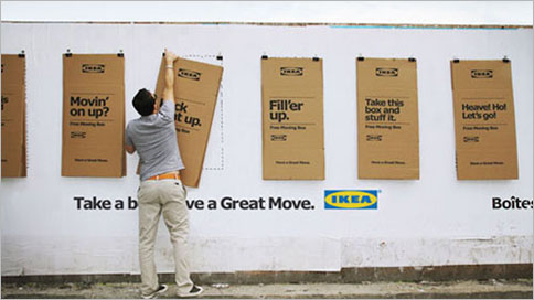 Ikea S Cardboard Outdoor Posters Fold Down Into Moving