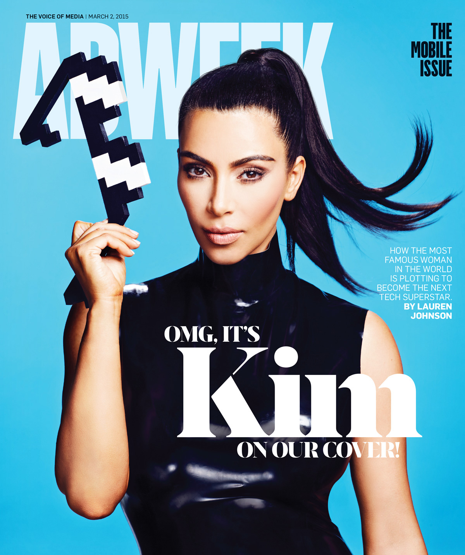 Kim makes kardashian the cover of adweek fotos