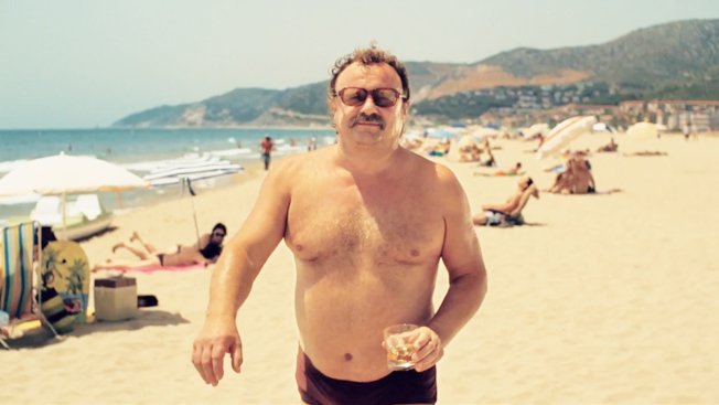 Beach Hairy man
