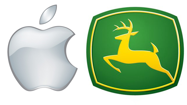 What's the More Important American Tech Brand, Apple or John Deere?