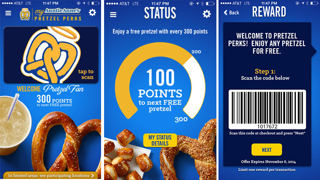 auntie anne s debuts app to help you track your pretzel addiction