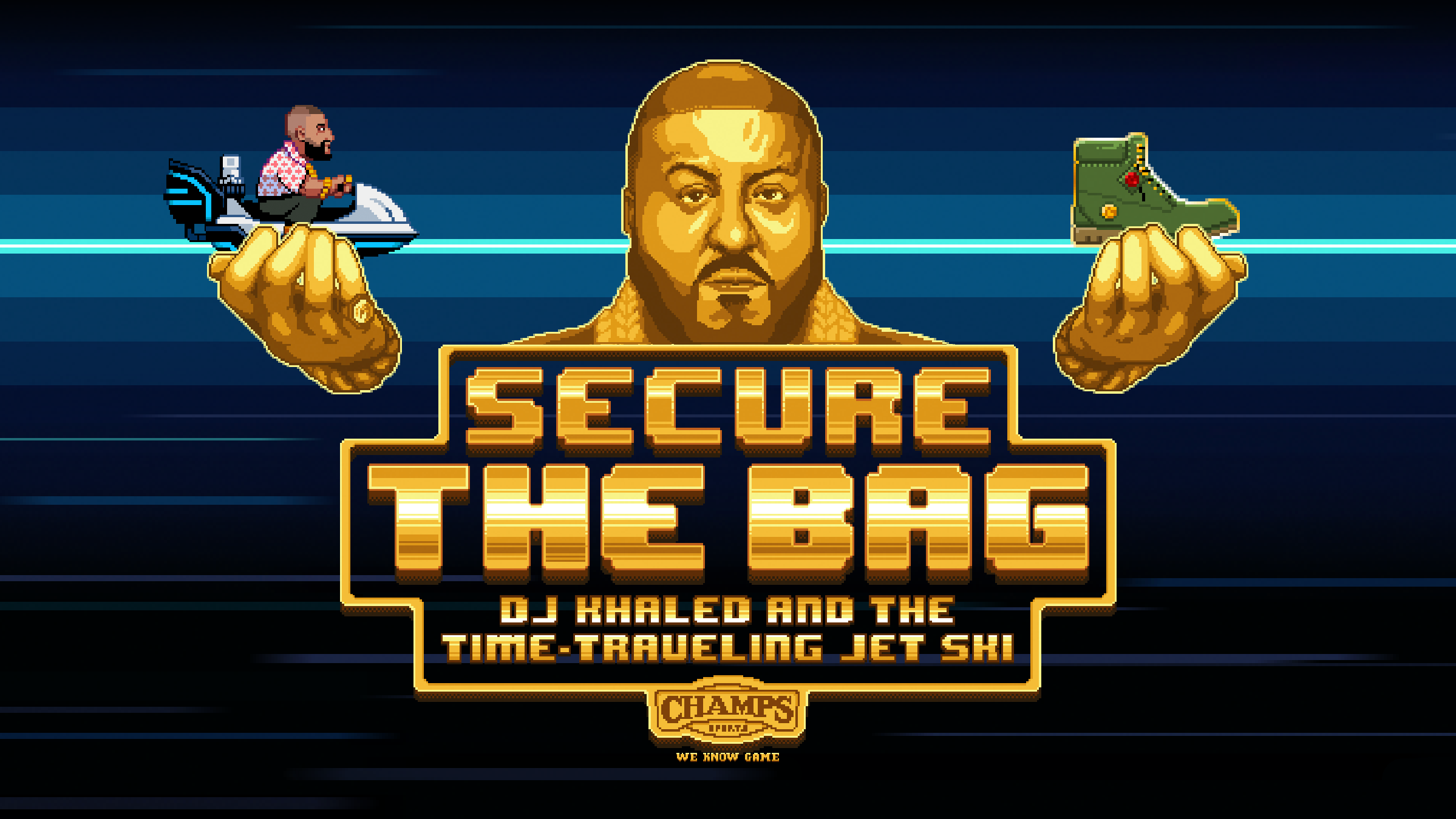 DJ Khaled s New Mobile Game for Champs Sports Leans Into 1980s Cool.  Sega-like graphics pitch Timberland boots b6d055562