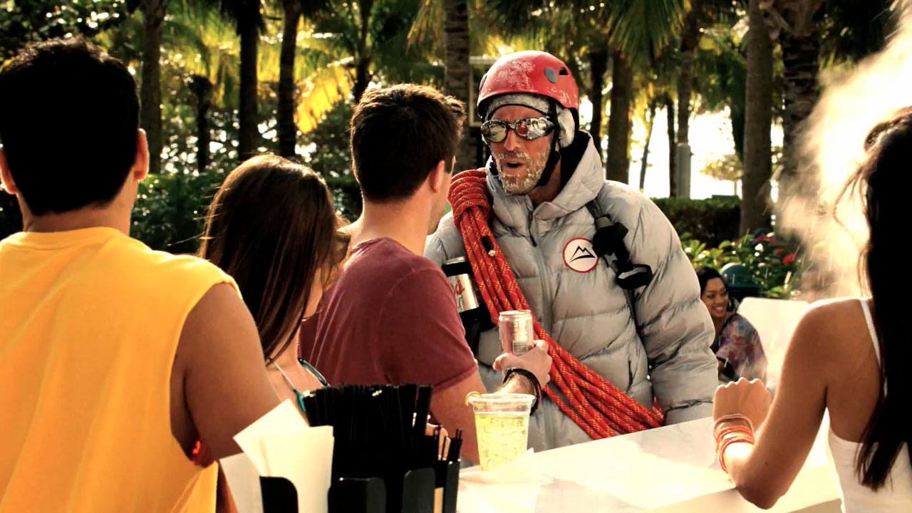 Ad of the day coors light adweek the brewer ambushes a summer pool party with the frosty taste of winter aloadofball Image collections