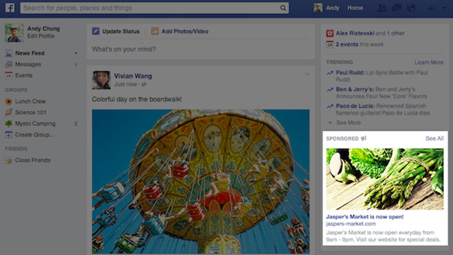 1bc180c953 Facebook Goes Big With Right-Hand Rail Ad Redesign – Adweek