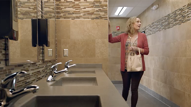 this truck stop chain s 100 million bathrooms star in its new ad