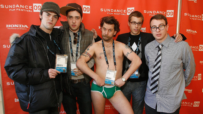 Rooster's Gavin McInnes (center in underwear)