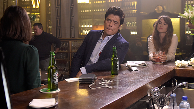 Benicio del Toro Would Like to Remind You Who He Is in Self-Mocking Heineken Ads