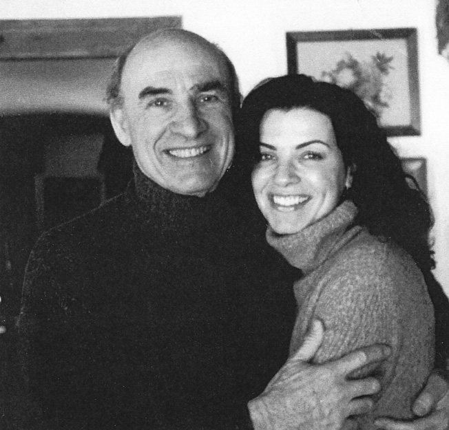 Paul Margulies and daughter Julianna hugging.