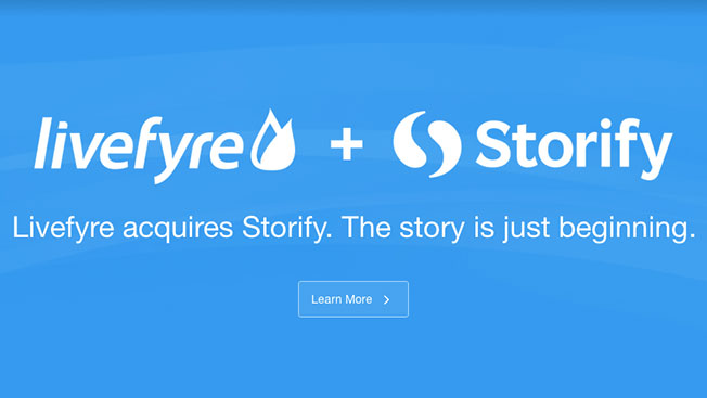 Storify Acquired by Web Publishing Services Company Livefyre