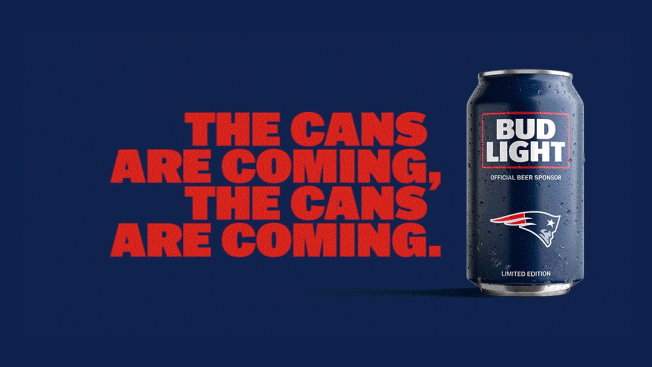 Bud Light's Popular NFL Team Cans Are Back With a New Minimalist