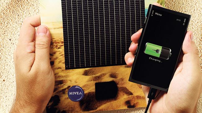 Gravity Award Winner: Nivea Sun Solar Ad Charger