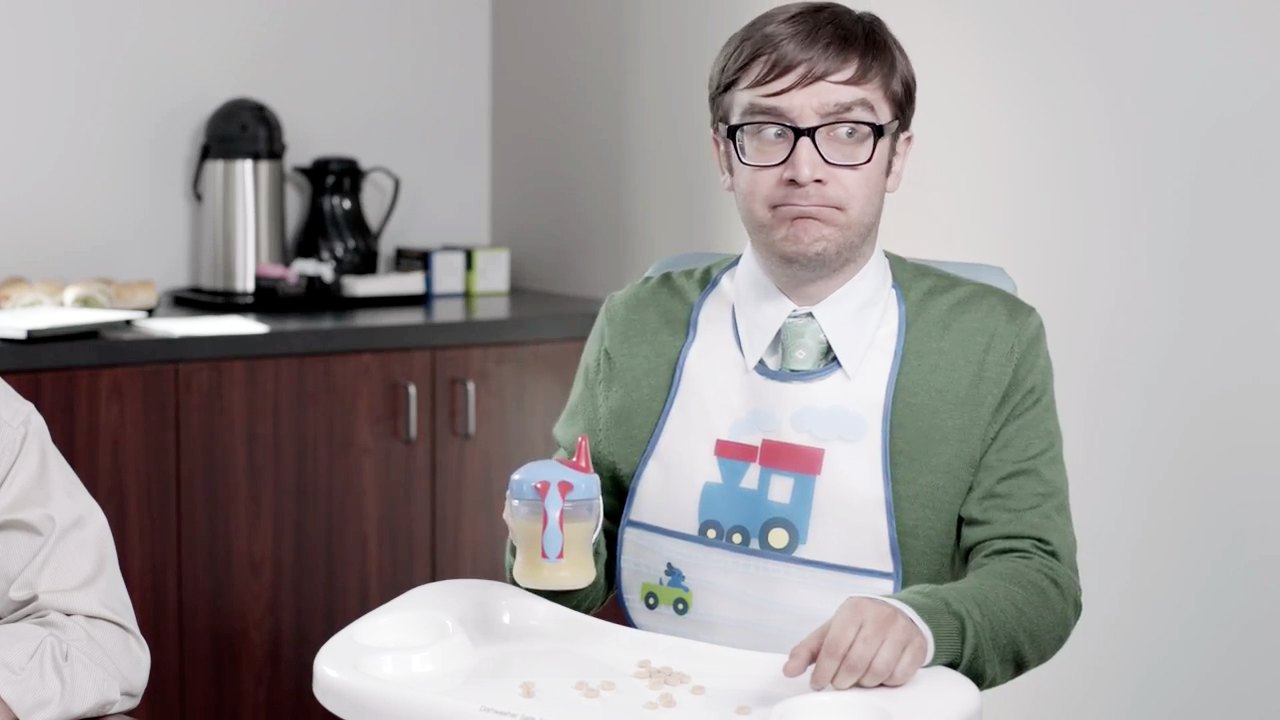 ad of the day  progressive u2019s baby man is about to spit up in your facebook feed  u2013 adweek