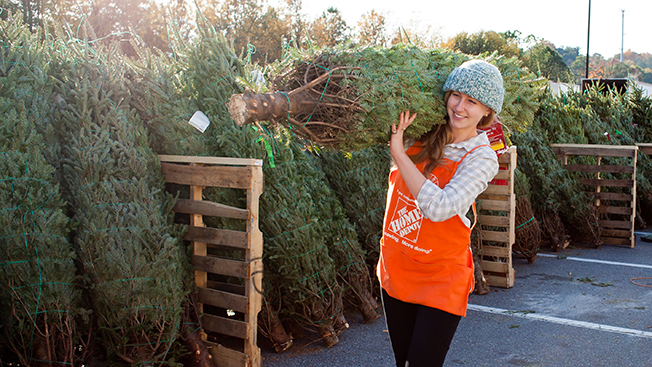 home depot teams with uber to deliver christmas trees