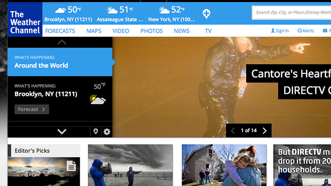 DirecTV May Drop The Weather Channel