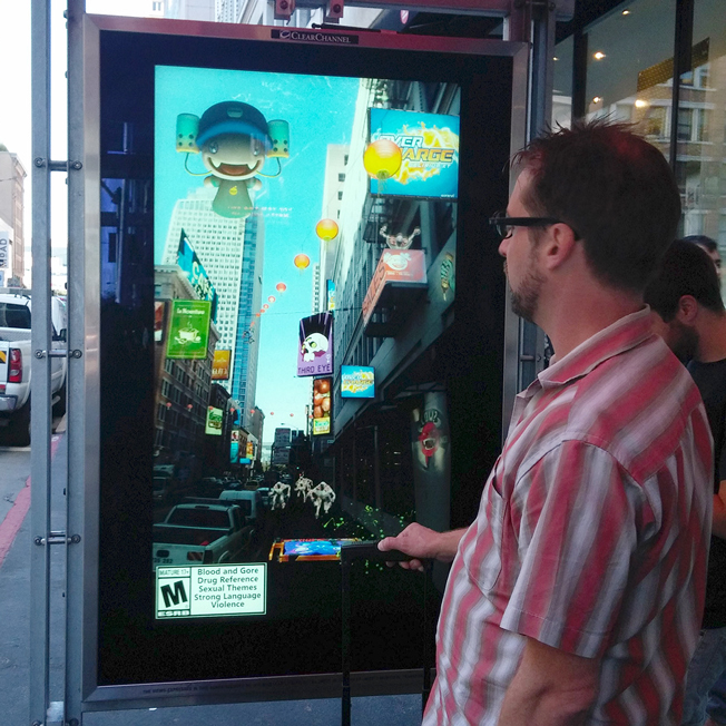 Microsoft's Bus Shelters Make You Feel Like You're Inside Its New Video Game