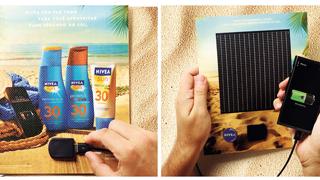 Gravity Award Winner: Nivea Sun Solar Ad Charger