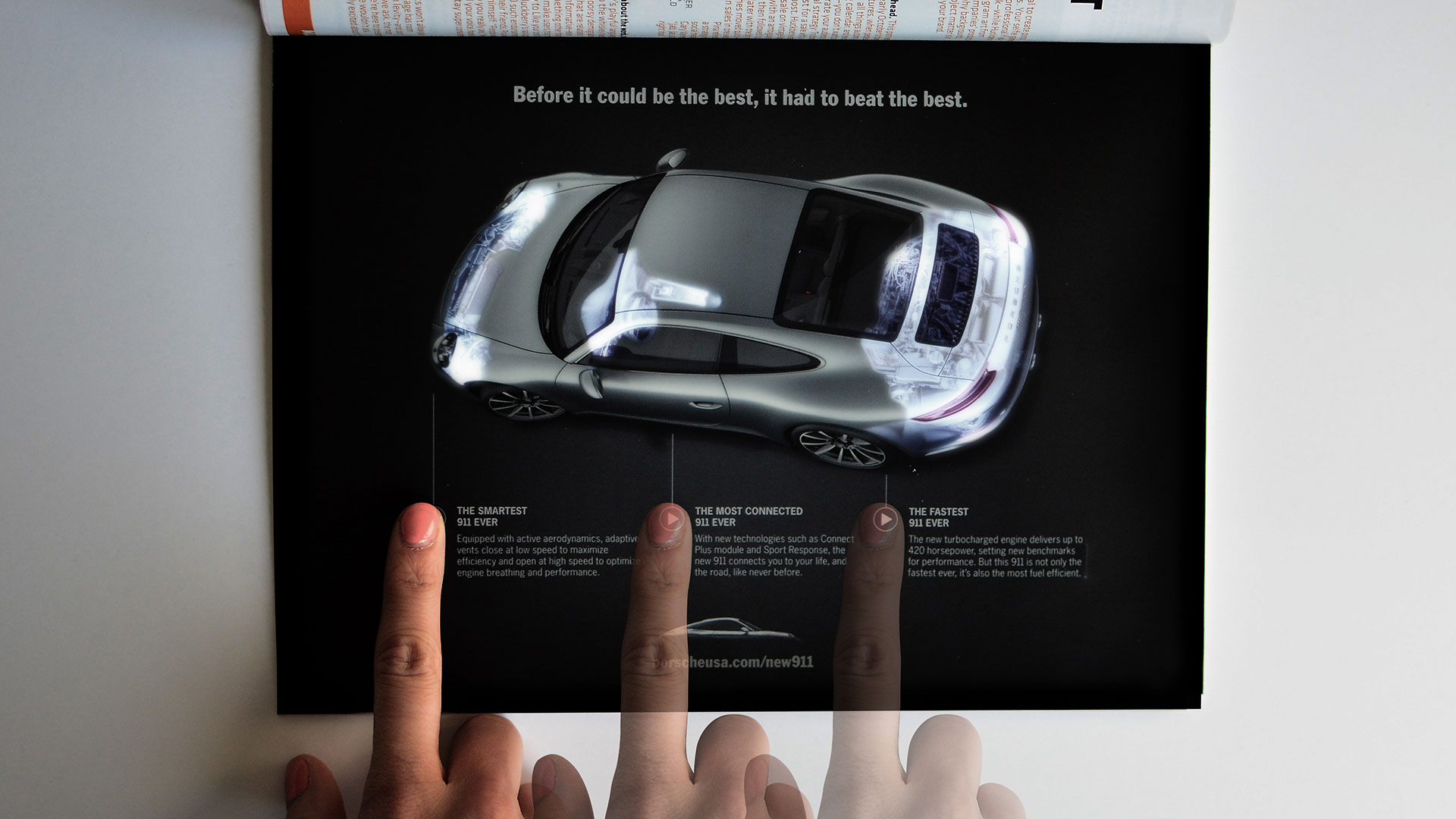 Ad Of The Day This Porsche Magazine Ad Uses Leds To Light