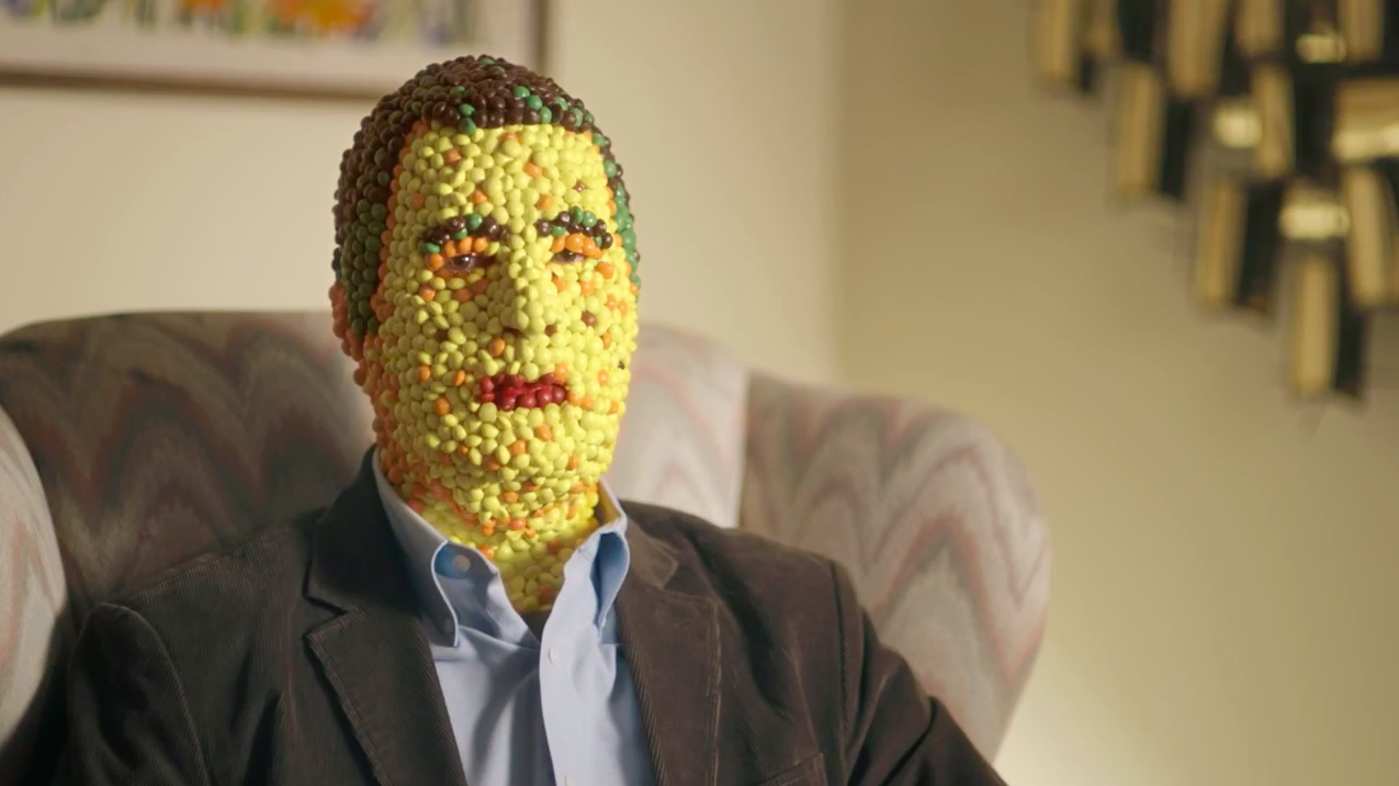 ad of the day  life isn u2019t easy for a man made of skittles