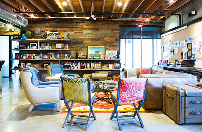 Toms Chief Shoe Giver Curated Every Inch Of His Office To Get That Living Room Feeling